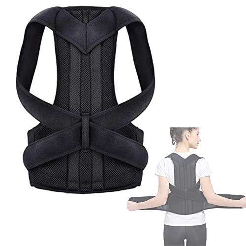 FHW Corrector De Postura De Espalda, CinturóN De Soporte De Columna Lumbar De Hombro CinturóN De CorreccióN De Postura De Cintura De Adulto Ajustable Cuidado Corporal,XL
