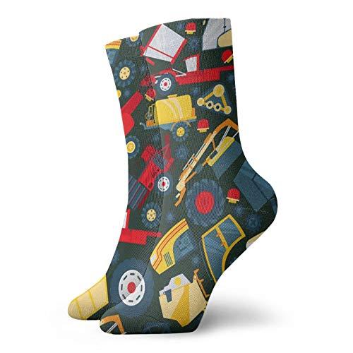 Calcetines, tractor, camión, coche, máquina de gran trabajo, deporte, calcetines casuales, calcetines de poliéster, para hombre, mujer, 30 cm