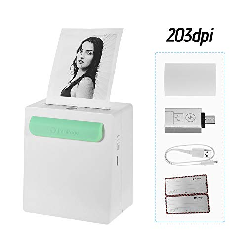 Great Price! WANYANG Mini Portable Pocket Wireless BT Thermal Printer with Charging Treasure Functio...