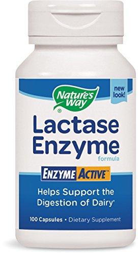 Nature's Way Lactase Formula, Enzyme Active, 100 Capsules