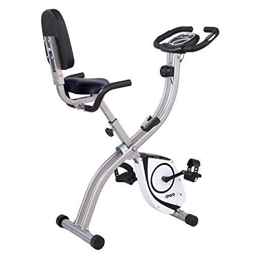 SportPlus Vélo d'Appartement / S-Bike - Ordinateur de Contrôle - Système de Freinage Magnétique Haute Performance - Pliable et...