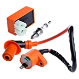 Wuyou Solenoide Arranque Moto Ingition Set 1pc Spark Racing CDI bujía de Encendido Kits Bobina for GY6 50/125 / 150CC 4 Tiempos ATV Scooter Parts Cualquier Departamento (Color : Orange)