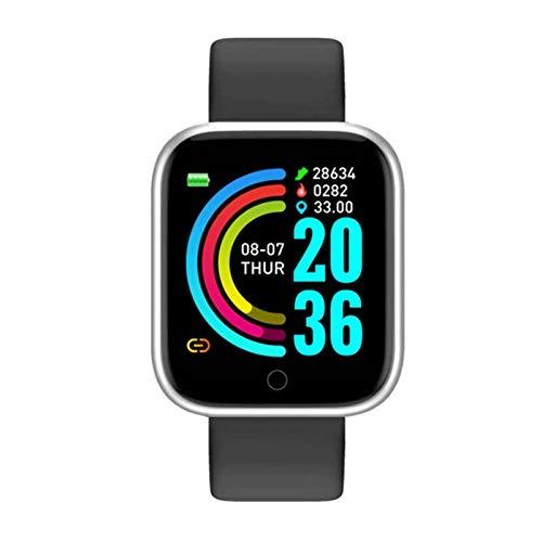CXSD Pulsera inteligente pulsera deportiva y fitness Recordatorio de información para Android, podómetro, reloj inteligente (color negro b)