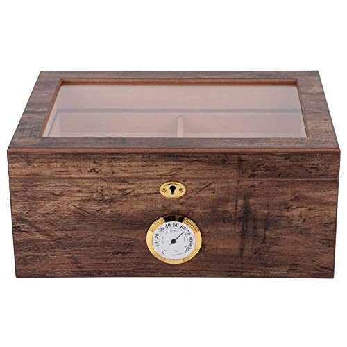 Caja de humidor, Soporte para cigarros Diseño hermético de Madera Liviana para colección Personal para Almacenamiento de cigarros