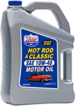 Lucas Oil Hot Rod & Classic Car SAE 10W-40 HP High Zinc Petroleum High Performance Motor Oil for Use with Racing Fuels & Synthetic/Non-Synthetic Oils, 5 Quarts