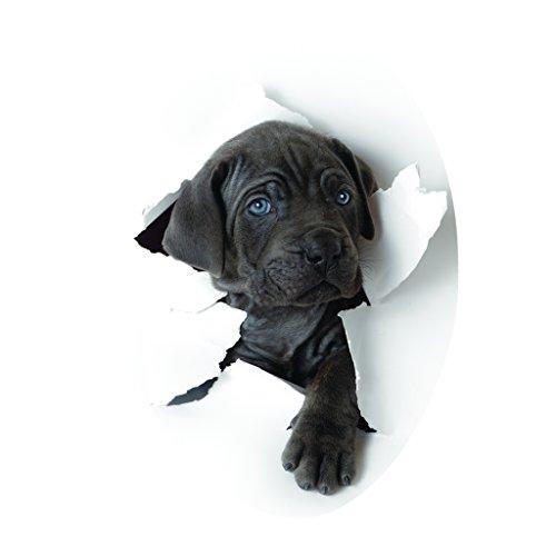B Blesiya Sexy Lippen Wasserdichter Toilettendeckel Toilettensitz Aufkleber, WC Sitz Tatoo Stickers Deko - Süßer Hund