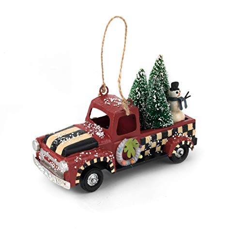 MacKenzie-Childs Vintage Truck Ornament, Retro Christmas Tree Ornaments, Holiday Collectible Decoration