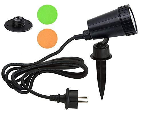 Trango 1-flammig IP44 Gartenstrahler 3075 Außenleuchte incl. 1x 3 Watt GU10 LED Leuchtmittel – 3000K warmweiß & 3 Meter Zuleitungskabel als Teichstrahler, Gartenlampe, Außenlampe, Wegbeleuchtung