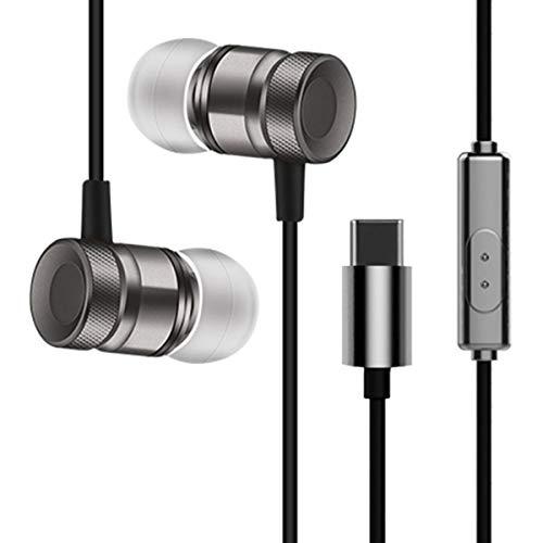 healthwen Auricolare in Metallo con Auricolare USB Type-C in Metallo con Auricolari con Microfono cablato per Letv
