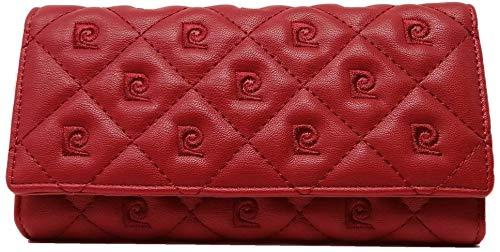 PIERRE CARDIN Cartera para mujer, bonita, grande, espaciosa, piel, rfid, regalo, cartera con monedero, billetera para niña