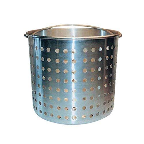 Winware Professional Aluminum Steamer Basket Fits 20-Quart Stock Pot, Silver
