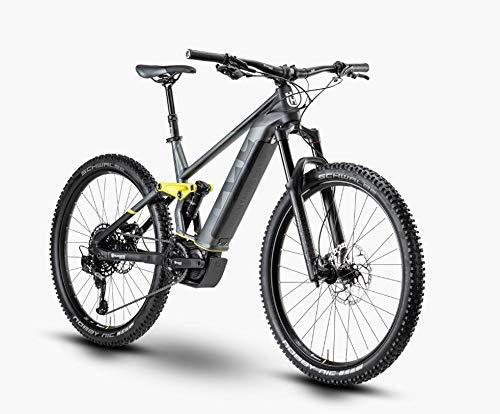 Husqvarna Mountain Cross 6 Shimano Steps Fullsuspension Elektro Mountain Bike 2020 (48cm, Black/Anthracite/Mustard)