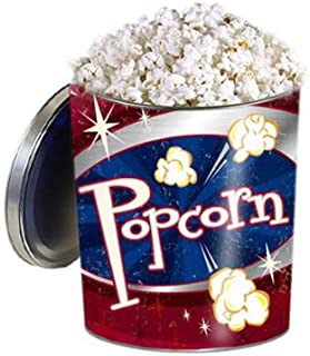 Gourmet Popcorn Gift Tin - Retro Style, Double Cheddar Cheese