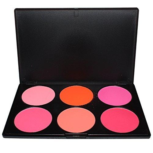 Pure Vie® 6 Couleurs Palette de Maquillage Blush Fard à Joues Poudre Cosmétique Set - Convient Parfaitement pour une Utilisation Professionnelle ou à la Maison