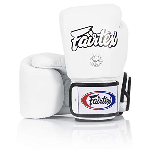 Fairtex Tight Fit Boxhandschuhe Leder Weiß 14 oz.