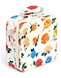 Ban.do What's For Lunch? Square Lunch Bag with Insulated Silver Lining, Large Capacity Floral Lunch Box for Women, Coming Up Roses