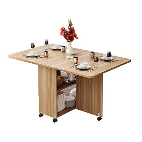 Home Equipment Home Moderne einfache Möbel Multifunktionaler Klapp-Esstisch aus Holz Wohnzimmer Küche Abnehmbarer Aufbewahrungstisch (nur Klapptisch) Esszimmersets (Farbe: Hellbraun Größe: 120 cm)