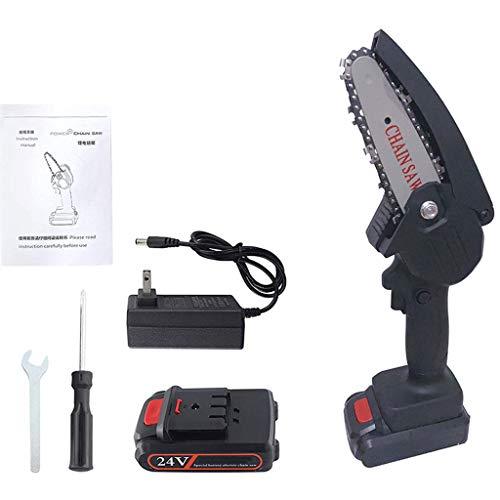 RyanBm Mini Motosierra Bateria de 4 Pulgadas y 24 V,Motosierra Eléctrica Inalámbrica...