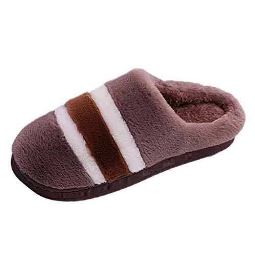 Zapatillas de Estar por Casa Mujer Hombre Invierno Zapatos de Casa con Forro de Piel Cálidas y Cómodas con Suela Antideslizante para Exterior Casuales de Terciopelo Casuales de Gran tamaño cómodas