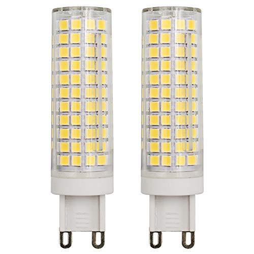 G9 LED maïslamp 9W dimbare keramische candelaar peer 2835 SMD 75-100W Vervangt T3 / T4 JCD G9 230V koud wit 6000 K lamp voor binnenverlichting - 2 stuks [meerweg]