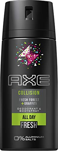 Axe Deospray Collision Fresh Forest + Graffiti ohne Aluminiumsalze, 3er Pack (3 x 150 ml)