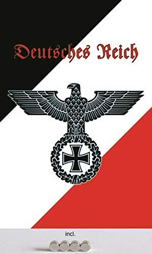 Blechschild 20x30cm gewölbt incl. 4 Magneten Deutsches Reich Deko Geschenk Schild
