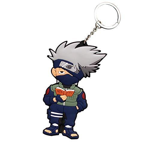 SGOT Naruto Schlüsselanhänger, Weicher Kleber Anhänger, Naruto Keychain, Uzumaki Naruto Uchiha Hatake Kakashi Keyring für Anime Lovers -C( H01)