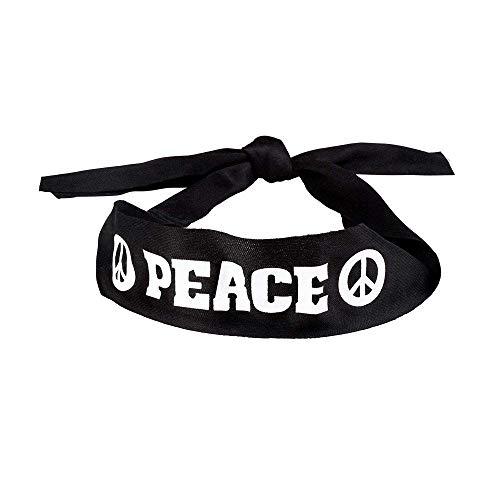 Boland 44527 10130705 Stirnband Peace, schwarz