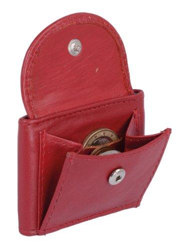 LEAS Extra kleine Minibörse Echt-Leder, rot Mini-Edition