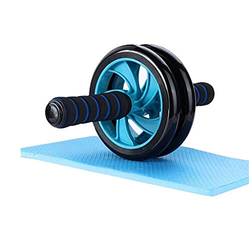 POPOTI Abdominal Wheel Ab Wheel Rollers Exercise Wheels Non- Slip Handles Fitness Workout Home Gym Exercise Equipment to Build Muscle (Blue)