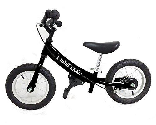 Mini Glider Kids Balance Bike with Patented Slow Speed Geometry (Black)