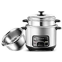 キッチン用品、ポット 炊飯器ホームインテリジェント断熱多機能ステンレス鋼インナーポットスプーンスチーマーと計量カップ寮小型家電の炊飯器、2L (Size : 4L)