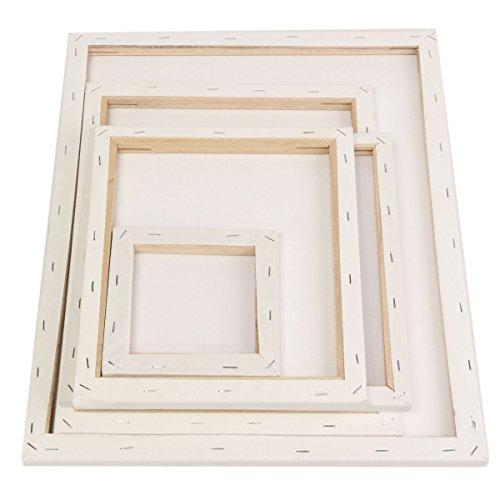 EgBert Weiße Leere Quadratische Leinwand Malerei Zeichenbrett Holzrahmen Für Künstler Künstler Öl Acrylfarben - Xs