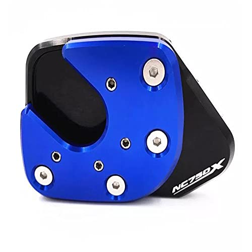 DFSD Motorcycle Kickstand CNC Foot Side Stand Pad Plate Enlarger Support for H-ON-DA NC750X NC 750X 2014-2021 Motorcycle Accessories,blue