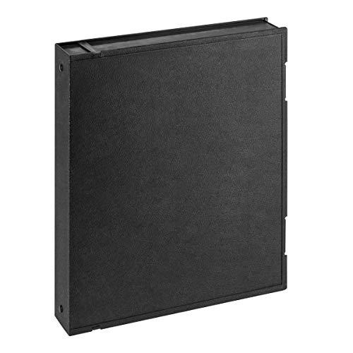 Adorama Plastic Storage Binder Box with 3 'O'-Rings, 9x11', Portrait Format, Color: Black