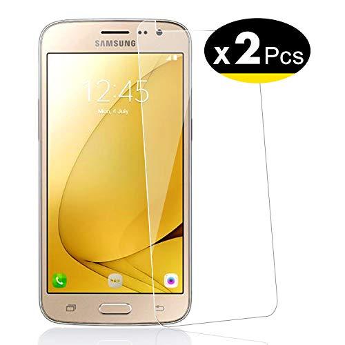 NEW'C PanzerglasFolie Schutzfolie für Samsung Galaxy J2, [2 Stück] Frei von Kratzern Fingabdrücken und Öl, 9H Härte, HD Displayschutzfolie, Displayschutzfolie Samsung Galaxy J2