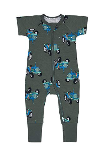 Bonds Baby WONDERSUIT Sleepsuit Zippy Dalmation Station Grey Marle