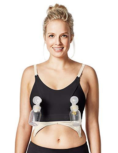 Bravado Designs Nursing Bra Clip and Pump Insert for Hands-Free Pumping - Black - L