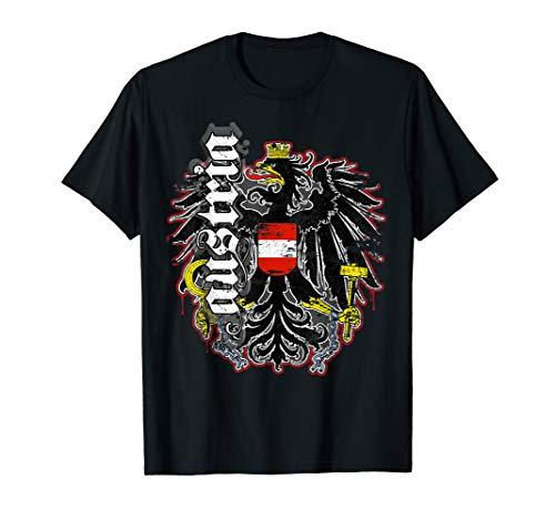 Österreich T-Shirt Retro Vintage Look mit Adler & Austria T-Shirt
