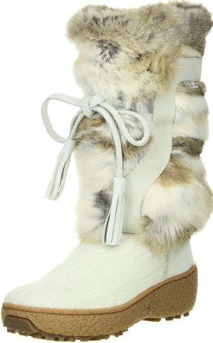 OSCAR Sport Damen Fellstiefel Snowboots weiß