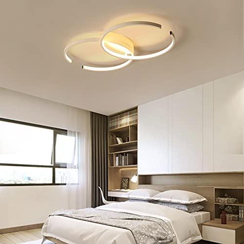 Luz De Techo LED, Lámpara De Techo Regulable Del Diseño De Arte Moderno 45W Con Remoto, Araña Acrílica De Acrílico De Montaje En Descarga Para Sala De Estar, Dormitorio, Cocina,white