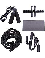 Sharplace Wheel Kalın Karın Kası Egzersizleri, Fitness Egzersizleri, Push Up Diz Çubuğu Mat
