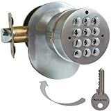 Best Door Knobs - SoHoMiLL Electronic Door Knob with Backup Mechanical Key Review