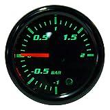 Medidor Turbo Boost, 2 pulgadas, 52 mm Pantalla LED universal Medidor Turbo Boost para motocicleta con sensor