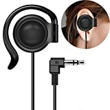 EXMAX Wired Single Headphones 3.5mm Right-Side Earphone One Ear Ear-Hook Headphone for EXD-101 ATG-100T Wireless Tour Guide Receiver Radio Podcast Laptop MP3 Ear Bud (Right-Side Earphone)