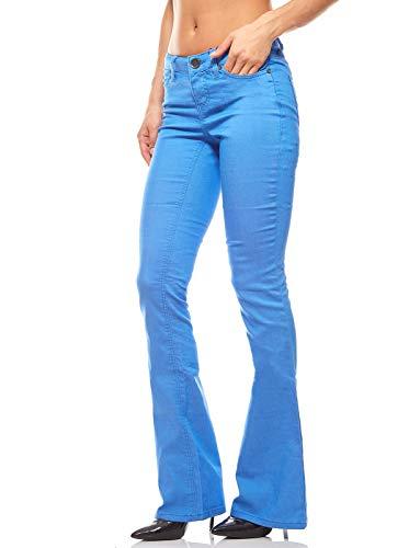 AJC Stretchhose Sommerhose Trend-Hose Slim Fit Damen Jeans Blau, Größenauswahl:38