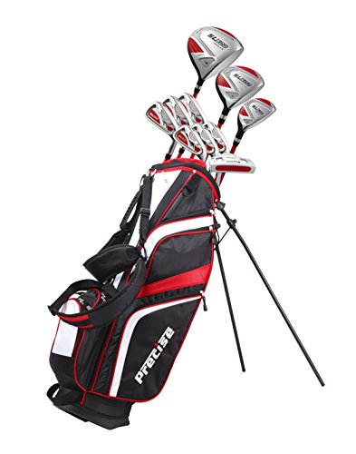 15 Piece Ladies Womens Complete Golf Clubs Set Titanium Driver, S.S. Fairway, S.S. Hybrid, S.S. 6-PW Irons, Sand Wedge, Putter, Stand Bag, 3 H/C's Petite Size for Ladies 5'3' and Below - Right Hand