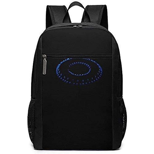 WlyFK Backpack Propan Herd Gas Feuer Blau Unisex Benutzerdefinierte Umhängetaschen, Erwachsener Student Doppelreißverschluss Beiläufige Schultasche