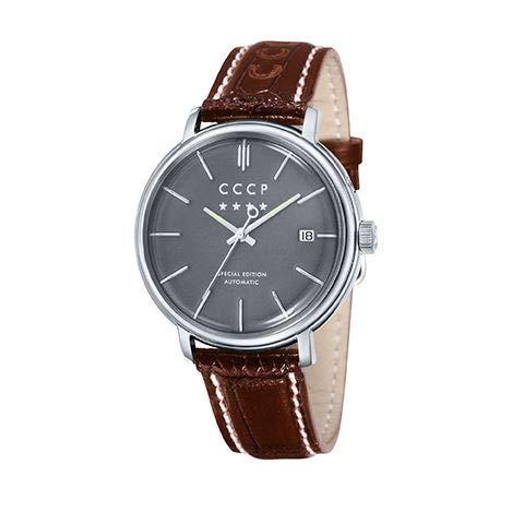 CCCP Homme Uhr Digital Automatique mit Cuir Véritable Armband CP-7019-03