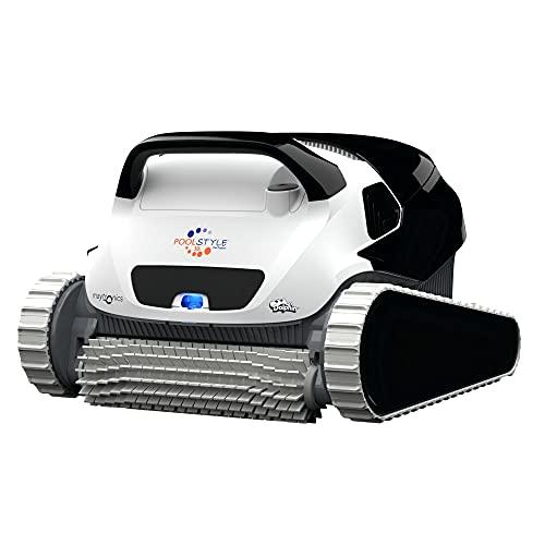 MAYTRONICS Dolphin Poolstyle 50i - Robot Limpiafondos de Piscina automático - Peso 7,5 Kg - Cable de 18 m con Sistema Anti-Nudos - para Piscinas hasta 15 m -Incluye App y WiFi - Garantía de 3 Años